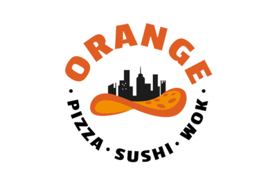 Orange Pizza Sushi Wok