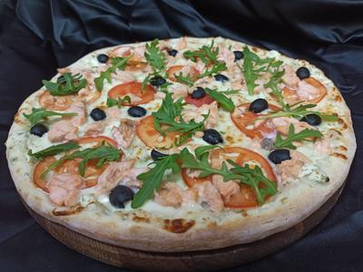 Піца з лососем Знижка 10%